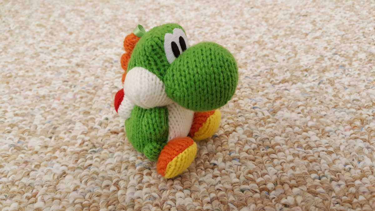 Knitting Pattern For Yoshi Toy : The Knightly Scroll : Yoshi s Woolly World: Knitted Perfection