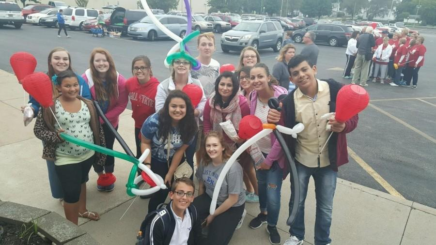 Pictured are the Key Club student at the Light the Night walk in September.