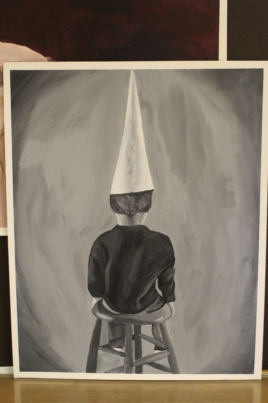 The painting that won Gay the Golden Key Scholastic Art Award